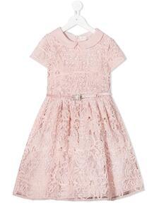кружевное платье с поясом Monnalisa 1559734555
