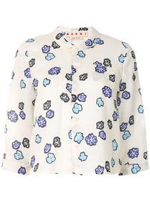 укороченная рубашка с цветочным принтом Marni 157477705156
