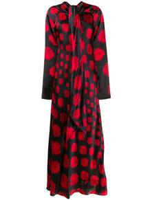длинное платье с геометричным узором Marni 144221275252
