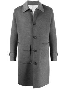 однобортное пальто миди ELEVENTY 159127645352