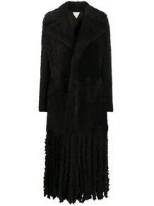 длинное фактурное пальто Bottega Veneta 158391045248