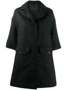 твидовое пальто с укороченными рукавами HERNO 150874715252