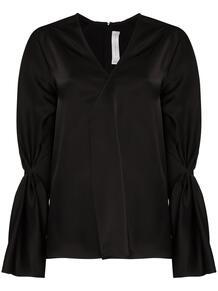 блузка с V-образным вырезом Victoria Beckham 1473261256