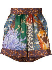 шорты с завышенной талией и цветочным принтом Dsquared2 152054525248