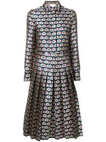 плиссированное фактурное платье-рубашка La Doublej 1333048983