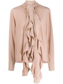 блузка с деталью в виде шарфа Victoria Beckham 1460796654