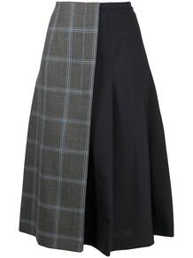 юбка с запахом и контрастной вставкой Marni 156501285248