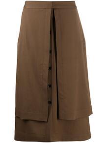 юбка А-силуэта с пуговицами LEMAIRE 157860155156