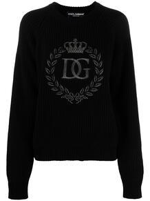 джемпер с вышитым логотипом Dolce&Gabbana 161875455250