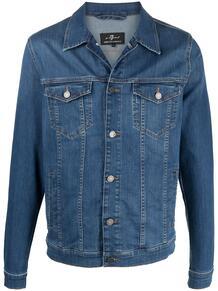 джинсовая куртка 7 for all mankind 162159358876