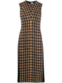 твидовое платье миди со вставками Victoria Beckham 145895464952