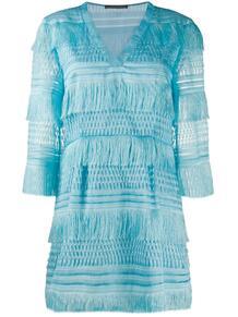 короткое платье с бахромой ALBERTA FERRETTI 149235285252