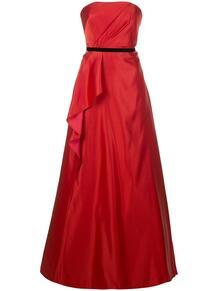 вечернее платье с драпировкой MarchesaNotte 148776234950