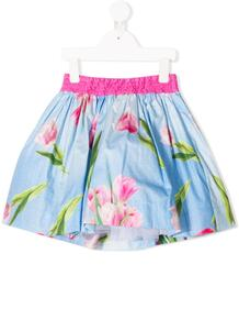 юбка мини с цветочным принтом Monnalisa 150047454950