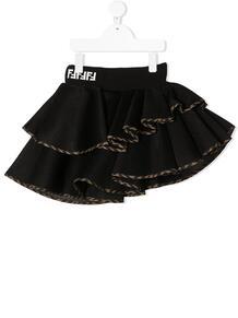 ярусная юбка с логотипом FF Fendi Kids 156341834950
