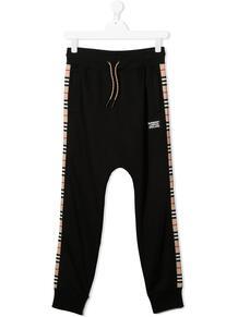 спортивные брюки с полосками Icon Stripe Burberry Kids 156341184952
