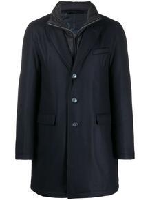 многослойное однобортное пальто HERNO 157026405352