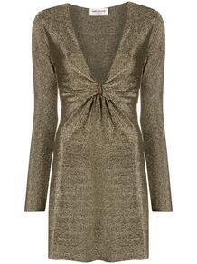 платье с глубоким декольте и эффектом металлик Yves Saint Laurent 1578281776