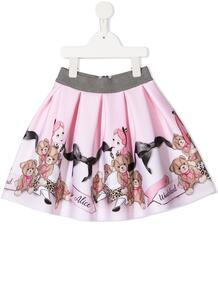 юбка со складками и графичным принтом Monnalisa 158688244950