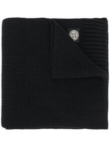 вязаный шарф с нашивкой-логотипом STONE ISLAND JUNIOR 15830682791101013283