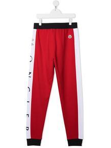спортивные брюки в стиле колор-блок Moncler Enfant 161793974952