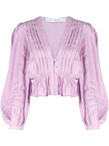 блузка на пуговицах с объемными рукавами IRO 162659395152