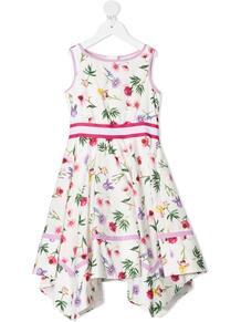 платье асимметричного кроя с цветочным принтом Monnalisa 162110244948