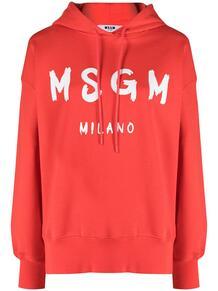 худи с кулиской и логотипом MSGM 161547608883