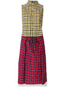 платье-рубашка миди в клетку R13 129100088883
