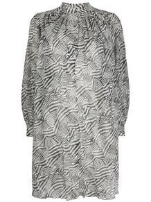 присборенное платье-трапеция с абстрактным принтом Isabel Marant 149319555152