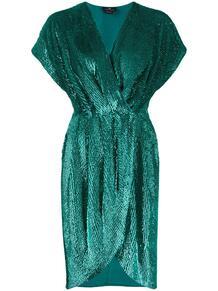 коктейльное платье с запахом и пайетками Elisabetta Franchi 150139925250