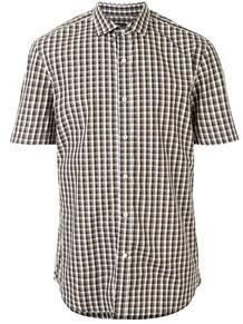 клетчатая рубашка с короткими рукавами Kent & Curwen 153135068876