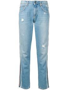 джинсы с лампасами и потертостями Ermanno Ermanno 138731195252
