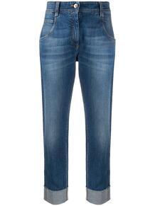 прямые брюки с подворотами BRUNELLO CUCINELLI 154663835156