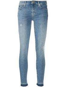 джинсы кроя слим с контрастными манжетами 7 for all mankind 156521165053