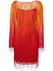 платье с бахромой ALBERTA FERRETTI 138531125248