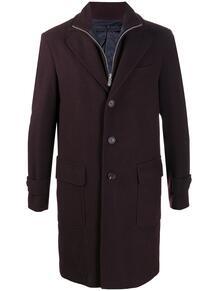многослойное пальто на пуговицах ELEVENTY 159128905256