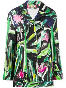 рубашка с графичным принтом Marni 152551955156