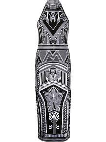 жаккардовое платье узкого кроя BALMAIN 148816455248