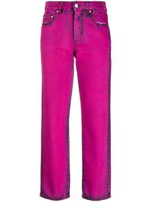 узкие джинсы с эффектом потертости MSGM 155395625156