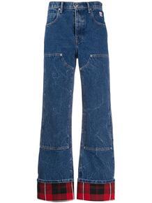 расклешенные джинсы с подворотами в клетку Alexander Wang 149879295052