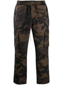 брюки с кулиской и камуфляжным принтом REPRESENT 1609041976