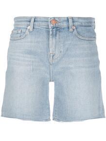 джинсовые шорты с завышенной талией 7 for all mankind 149395785057