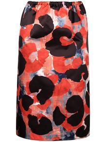 юбка с завышенной талией и абстрактным принтом Marni 162701275156
