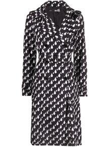 двубортное пальто с принтом Love Moschino 163149535248