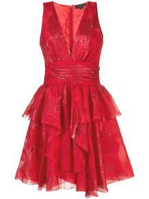 расклешенное коктейльное платье с глубоким декольте ZUHAIR MURAD 151657035156
