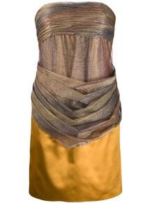 платье без бретелей с драпировкой Chanel Pre-Owned 140842945248