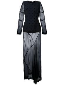 платье с прозрачными вставками Comme Des Garçons Pre-Owned 12033130636363633263
