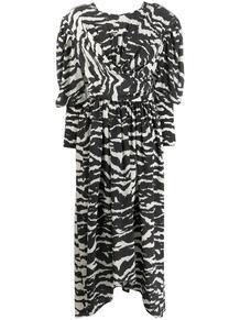 платье Filao с драпировкой и зебровым принтом Isabel Marant 147517285154