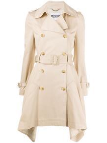 двубортное пальто асимметричного кроя Love Moschino 158497115248